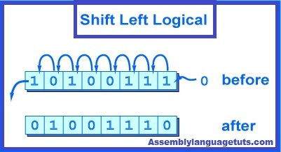 shift left logical example