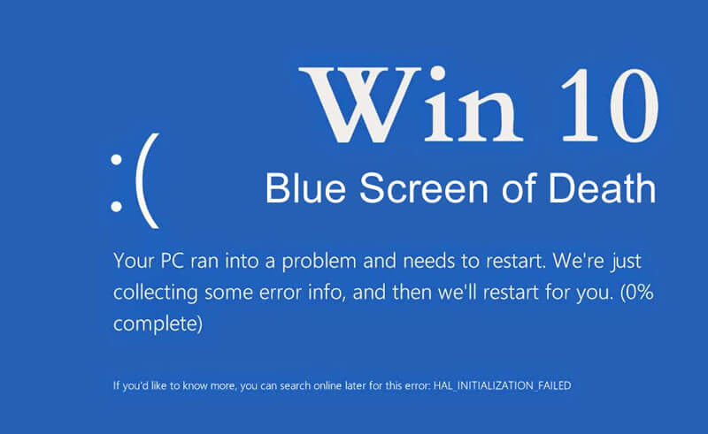 blue screen error fix in windows