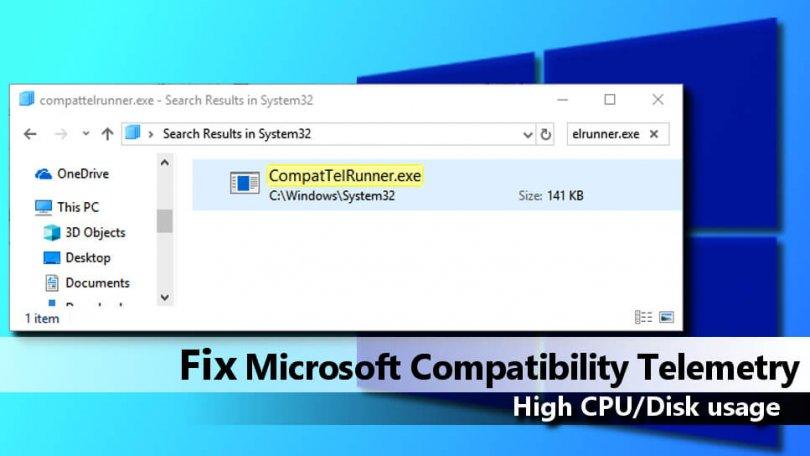 Disable Microsoft Compatibility Telemetry Windows 10