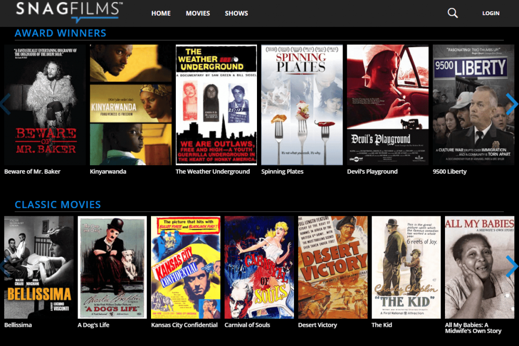 streaming online snagfilms
