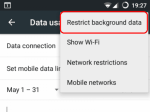 How to restrict app data