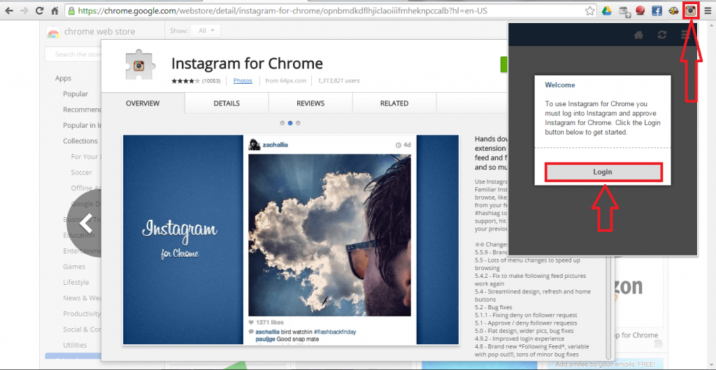 How to use Instagram from Laptop Using Instagram chrome extension