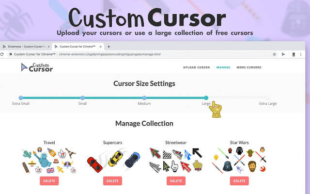 How to use custom cursor only for Chrome