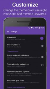 enable dark mode in the Twitch Mobile app