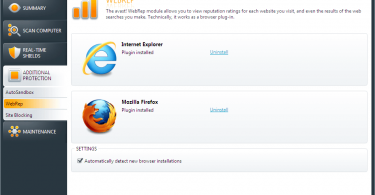 ie webrep loader avast Install, Uninstall and reputation check