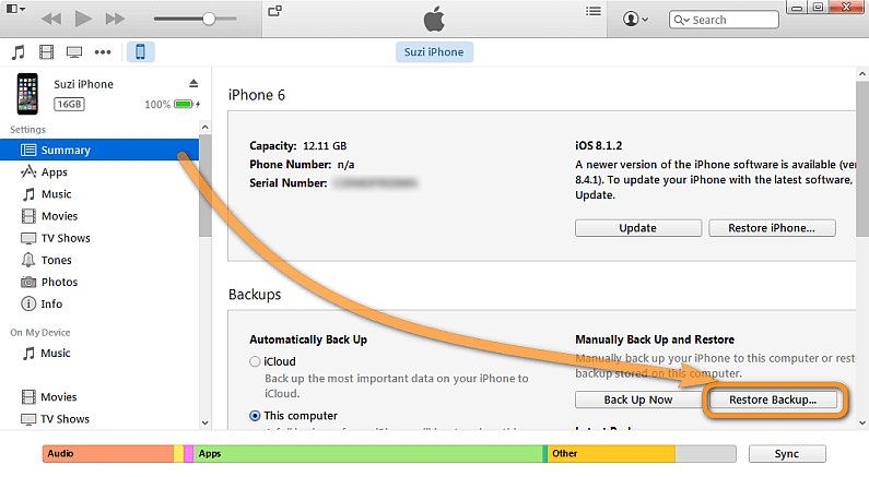 Recover your notes from iTunes back up?