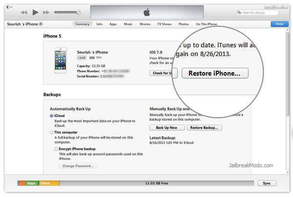 Restore your iPhone to factory settings
