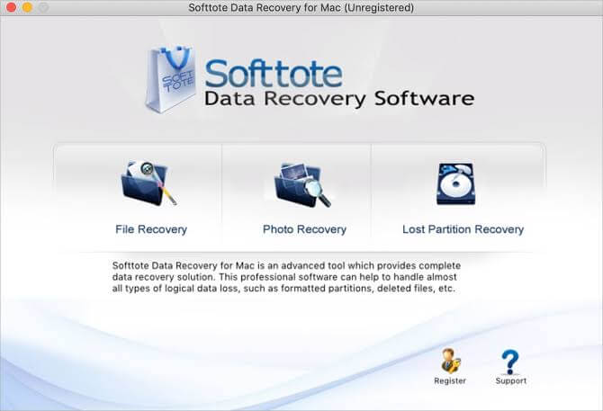 Recover your Mac files by using a data recovery software