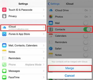 Recover your contacts by using iCloud