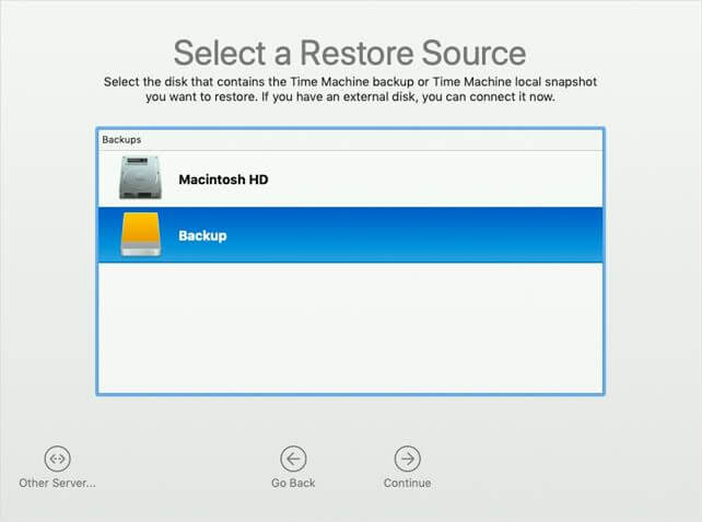 Recover your files with Time Machine