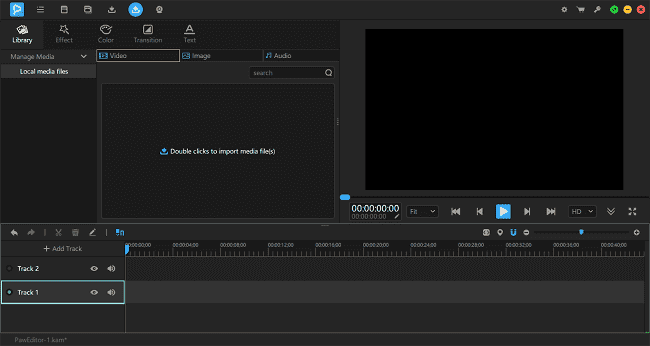 Remove audio from the video by using a video editing tool