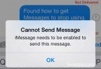 iMessage needs to be enabled to send messages – Solved