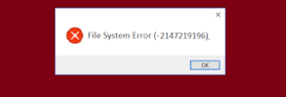 Error in your System