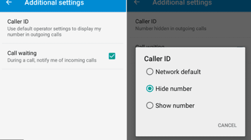 Making Phone Number Private on Android
