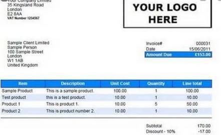 1. Car Rental Invoice