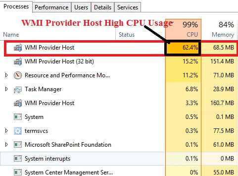 How to Fix the Error WMI Provider Host High CPU Usage