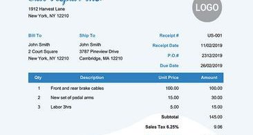 Best Online Receipt Templates