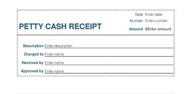 3. Petty Cash Receipt