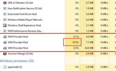5. Restart WMI Provider Host Service
