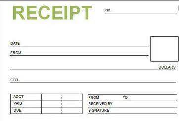 7. Blank Receipt Template