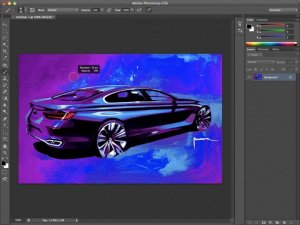Adobe Photoshop car designing