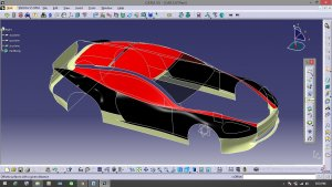 CATIA Generate 3D car Models
