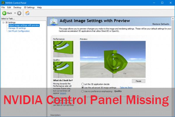 [Latest Fix] Nvidia Control Panel Missing [Windows 10]